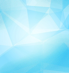 Blue crystal and dot bright layered background vector