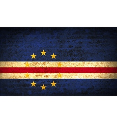 Flags cape verde with dirty paper texture vector
