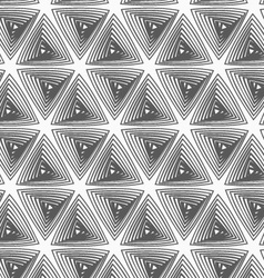 Flat gray with hatched triangles vector
