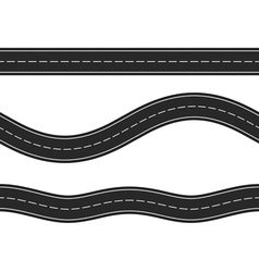 Seamless horizontal roads vector