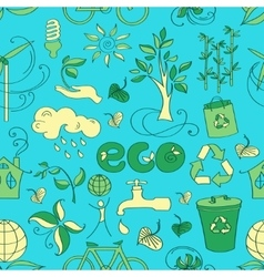 Doodle pattern ecology vector