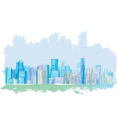 pastel city vector image