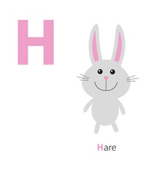 Letter h hare zoo alphabet english abc with vector