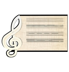 Treble clef a stave vector
