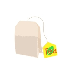 Teabag icon in cartoon style vector