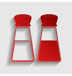 Salt and pepper sign vector