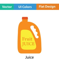 Fruit juice canister icon vector