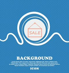 Sale tag icon sign blue and white abstract vector