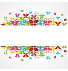 Abstract colorful butterfly design with copy-space vector image vector image