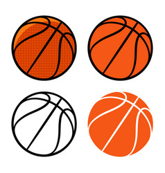 basketball 003 vector image vector image