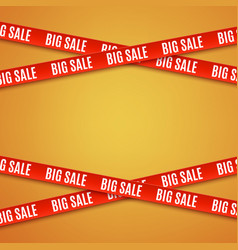 big sale red banners vector image vector image