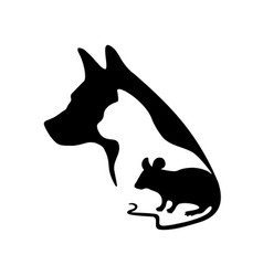 black logo for veterinary clinic and pet shop vector image