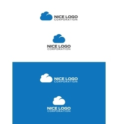 Blue cloud logo vector
