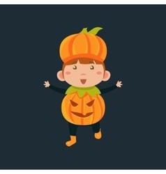 Boy In Jack Pumpkinhead Haloween Disguise vector image vector image