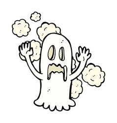 comic cartoon spooky ghost vector image vector image