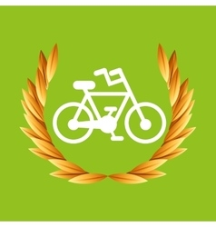 Cycling bike sport olympic blue badge vector