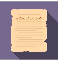 Declaration flat icon vector