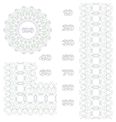 Decorative rosette border and numbers vector