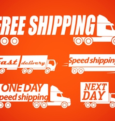 Delivery stickers vector image vector image
