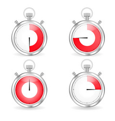 digital timers set stopwatch collection vector image