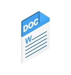 Doc icon isometric 3d style vector