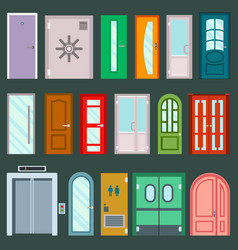 doors design furniture elements doorway vector image