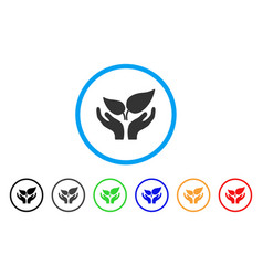 Eco startup rounded icon vector