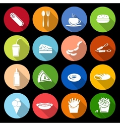 Fast food icon flat vector