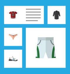 Flat icon dress set of t-shirt lingerie trunks vector