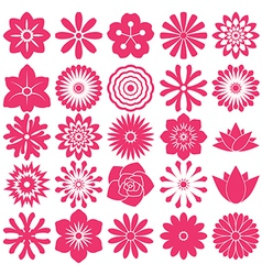 Flower symbol icon vector image vector image