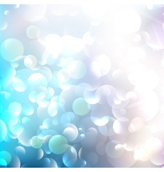 Glittering llight on bokeh background vector image