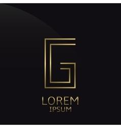 Golden G Letter vector image vector image