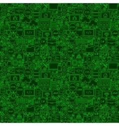 Green Line Coding Seamless Pattern vector image vector image