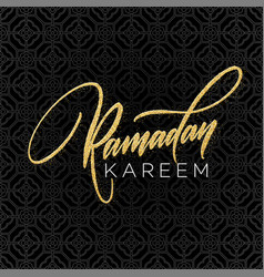 Greeting card with creative text ramadan kareem vector