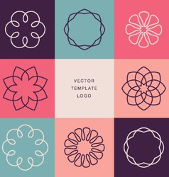 Hipster template logo vector image vector image