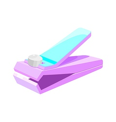 Icon nail clipper vector
