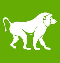 Japanese macaque icon green vector