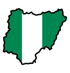 Map in colors of Nigeria vector image vector image
