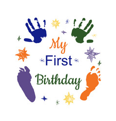 my first birthday vector image vector image