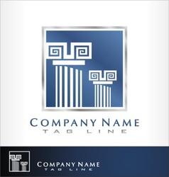 Reliable logo columns vector