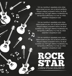rock star chalkboard poster design vector image vector image