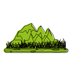 rocky mountain with snow icon image vector image vector image