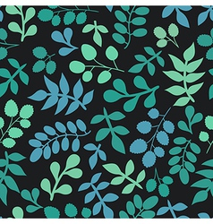 Seamless leaves pattern background vector
