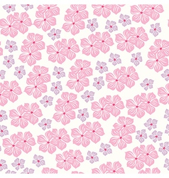 Seamless pattern for design with spring flowers vector image vector image