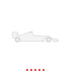 silhouette of a racing car it is icon vector image