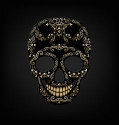 skull ornament vector image