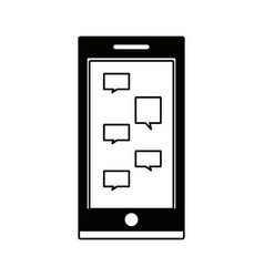 Smartphone chat message mobile device display vector