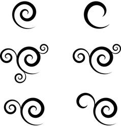 swirl symbol vector image vector image