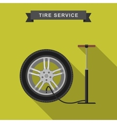 Tire service flat vector image vector image