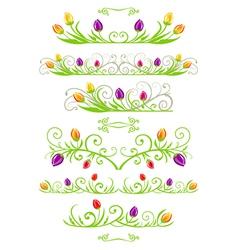 tulip spring borders vector image